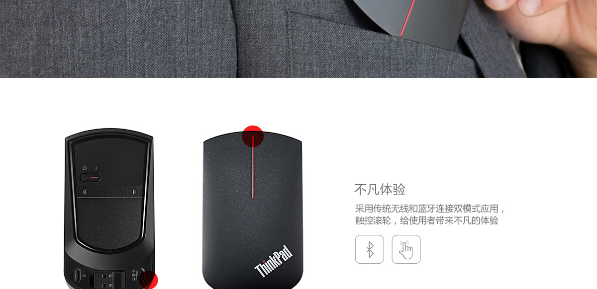 ThinkpadThinkPad X1 无线触控鼠标 (4X30K40903)0